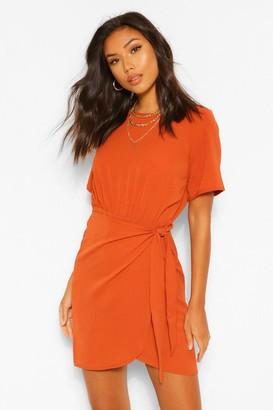 boohoo Woven Wrap Dress