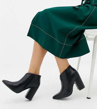 Truffle Collection Wide Fit Heeled Ankle Boots