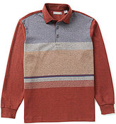 Daniel Cremieux Signature Long-Sleeve Color Blocked Polo Shirt