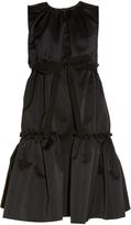 Rochas Tiered duchess-satin sleeveless dress