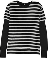 R 13 Striped cotton and cashmere-blend jersey top