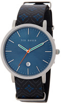 Ted Baker Men's Printed Leather Strap Watch