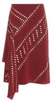 Tory Burch Embellished Silk Skirt
