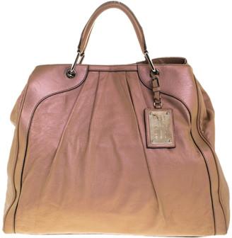 Dolce & Gabbana Metallic Blush Pink Leather Miss Brooke Tote