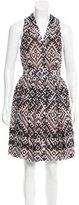 Temperley London Pleated Abstract Print Dress w/ Tags
