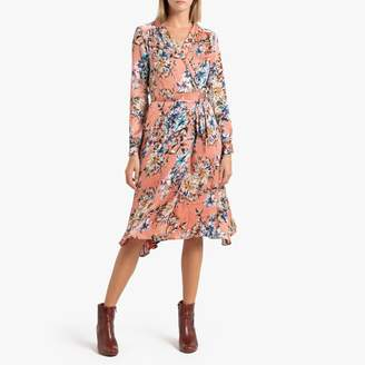 Adina Frnch Wrapover Dress in Floral Print