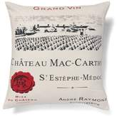Amity Home Chateau Mc-Carthy Square Throw Pillow in Ivory/Red