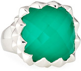 Stephen Webster Superstud Square Synthetic Chrysoprase Doublet Ring, Size 8