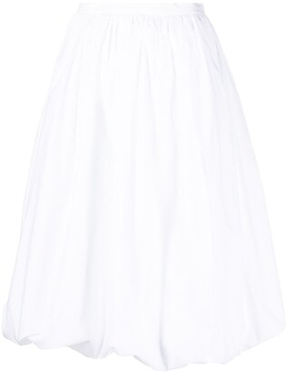 Patou Gathered Hem Skirt