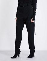 Limi Feu Tapered wool-twill trousers