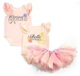 Infant Girl's Disney By Tutu Couture Belle 2-Pack Bodysuit & Tutu Skirt Set