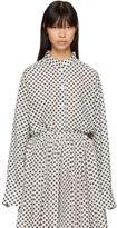 Sara Lanzi Off-White Oversize Polka Dot Shirt