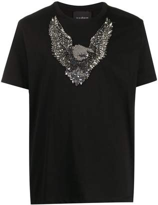 John Richmond sequin-embellished eagle T-shirt