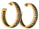 Gurhan Diamond Slice Hoop Earrings