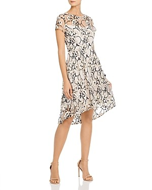 Adrianna Papell Graphic Radiance Embroidered Dress