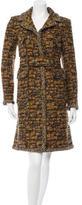 Chanel Belted Tweed Coat