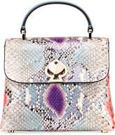 Kate Spade Romy Mini Python-Embossed Top-Handle Bag