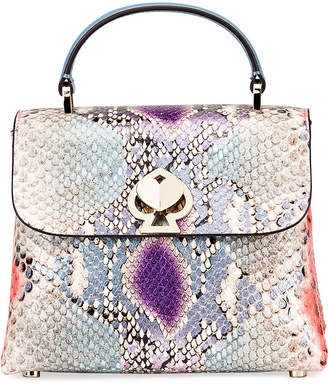 Kate Spade romy mini python-embossed top-handle bag