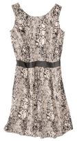 Mossimo Women's Sleeveless Dress w/ Faux Leather Trim -Snake Print
