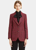 Gucci Women's Woven Jacquard Blazer Jacket in Red