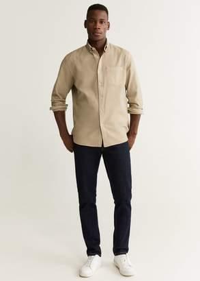 MANGO Regular fit pocket cotton shirt