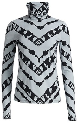 Proenza Schouler White Label Sheer Stretch Jersey Turtleneck Top