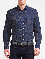 Gant Tweed Flower Twill Shirt, Navy