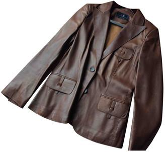 Carolina Herrera Brown Leather Jacket for Women