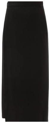 Haight Wrap-around Twill Midi Skirt - Womens - Black