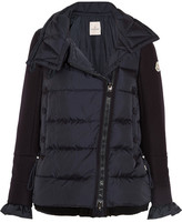 Moncler Laurine Wool-blend And Quilted Shell Down Jacket - Navy