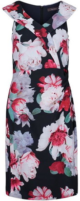 Vera Mont Floral Print Shift Dress