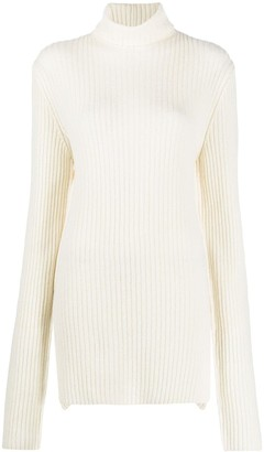 Ann Demeulemeester Ribbed-Knit Virgin Wool Jumper