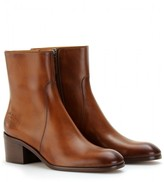 Gucci BETIS GLAMOUR LEATHER ANKLE BOOTS