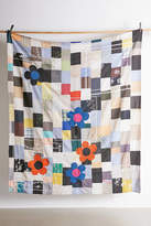 Urban Renewal Vintage Embroidered Daisy Kantha Quilt