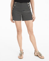 White House Black Market 5-inch Ponte Striped Shorts