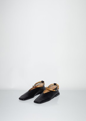 Jil Sander Ballerina With Wooden Ankle