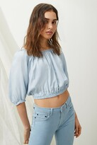 French Connection Julienne Lyocell 70s Crop Top