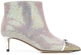 Thumbnail for your product : Marco De Vincenzo Iridescent Studded 55mm Leather Boots