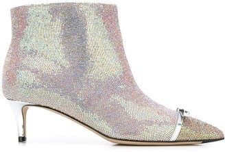 Marco De Vincenzo Iridescent Studded 55mm Leather Boots