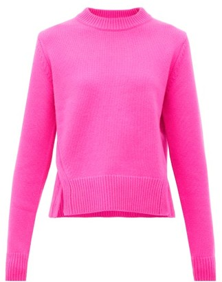 Tibi Slit-hem Cashmere Sweater - Womens - Fuchsia