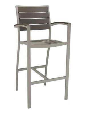 "Florida Seating 30"" Patio Bar Stool Frame Color: Gray"