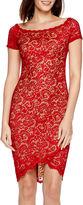 Bisou Bisou Cap-Sleeve Lace Bodycon Dress