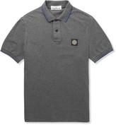 Stone Island - Slim-fit Stretch-cotton Piqué Polo Shirt