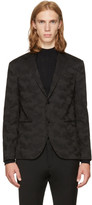 Neil Barrett Black Slim Camo Blazer