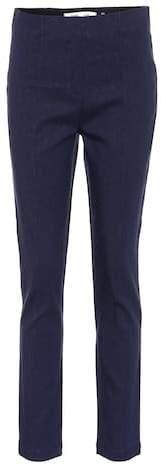 Diane von Furstenberg Mid-rise skinny linen-blend pants