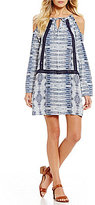 Roxy Live Loudly Printed Cold Shoulder Shift Dress