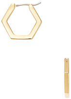 Marc by Marc Jacobs Hexagon Huggie Hoop Earrings