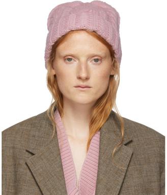 Ami Alexandre Mattiussi Pink Wool Knit Beanie