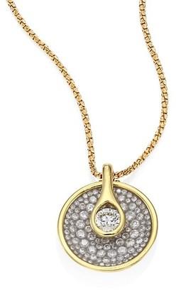 Plevé Opus Diamond & 18K Yellow Gold Round Pendant Necklace