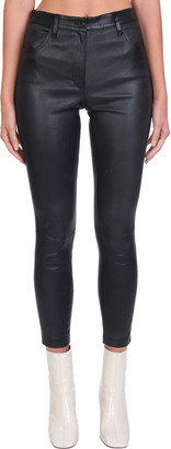 Theory Jean L.bristol Pants In Black Leather